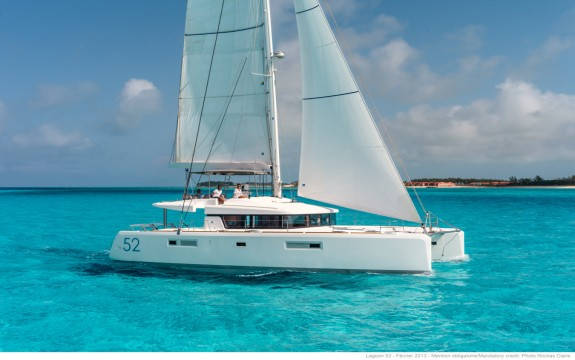 Lagoon 52, The Lead Boat  of our small group.